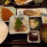 お食事処 海雅 - アジ三昧定食。1200円だったかな?