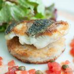 アクアマーレ - 本日のお魚のソテー、栗の焼きリゾットとフレッシュトマトソース