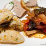 シェアードテラス - 冷たい前菜の3品盛り