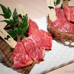熟成和牛焼肉エイジング・ビーフ - エイジング希少部位5種盛り合わせ【2013年9月】