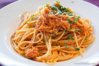 タンタローバ デル ミュゼオ 御殿場 - ずわい蟹のトマトソース スパゲッティ【2013年9月訪問】