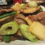 21728451 - 牛肉椎茸・竹の子のかき油炒めアップ