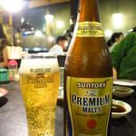 炭火焼肉 ホルモンセンター どうげん - 【瓶ビール】プレミアムモルツ590円