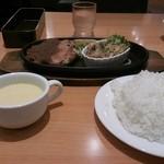 21741897 - 日替りランチセット 豚カルビ 醤油麹焼き