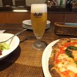 葡萄酒酒場なかなか - ランチのグラスビール300円