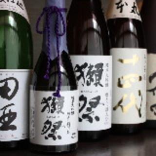 こだわりの焼酎、日本酒、