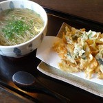 ほり田 - かき揚げ温蕎麦 1100円