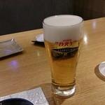和食ダイニング まぐろ問屋 三浦三崎港 - きんきんに冷えたスーパードライ