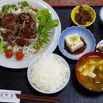 山肉専門店 星野屋 - 鹿ステーキ定食(2,100円)