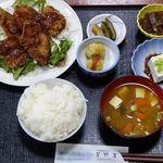 山肉専門店 星野屋 - 鹿カツ定食(1,500円)