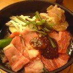 しらみずの湯 食事処 雅 - 料理写真:飛騨牛朴葉味噌定食