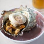 文佐食堂 - さざえのつぼ焼き 1,000円