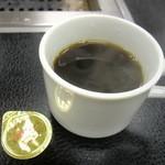 やきやき亭 - 食後にはコーヒー付き