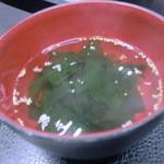 やきやき亭 - わかめスープ
