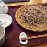 如月 徳 - せいろ(太麺)大盛り