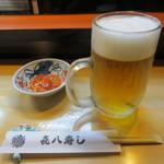 21766117 - 小鉢と生ビール