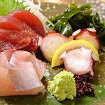 恵比寿カドヤ - 磯盛り合せ(マグロ・タコ・白身魚)