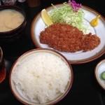 とんかつ 檍 - ロースカツ定食