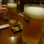 酒菜家ええねん - 生ビール(中とメガ)