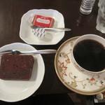 ツエーンコーヒー - ビターブレンドとチョコパウンドケーキ