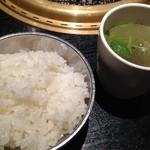 焼肉 名門 - テールスープだぁ!