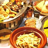 モロッコ料理カサブランカ - シェフのおまかせコース 各種3500円タジンやクスクスカバブなどモロッコの代表的なメニューが満載です♪