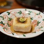 徳 うち山 - 焼胡麻豆腐