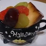 菓子工房コージ - 料理写真:ハロウインパフェ  巨峰、メロン、いちご、オレンジ、黄桃