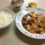 三宝軒 - 酢豚定食【¥850】