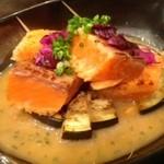 葉なと - 秋鮭の西京漬けの炙り 1,200円(秋季限定)
