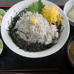 うさみ茶屋 - しらす釜揚げ丼1000円