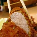 とんかつ武蔵 - 黒豚ヒレカツ定食1700円