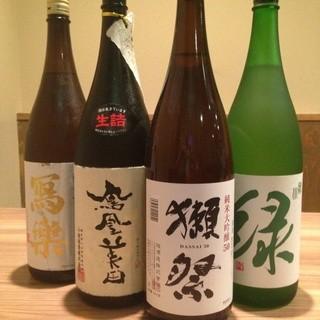 【日本酒やワインも多数!】人気の獺祭もおいてます!