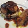 ハシモト - 料理写真:フォアグラのソテー トリュフソース リゾットと共に