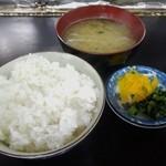 八栄 - ご飯セット