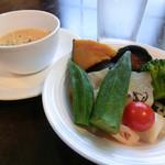 レストラン亀遊亭 - 野菜ブッフェ