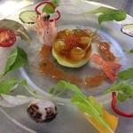 欧風懐石 勝 - 天使の海老とアボカドのムース 彩りサラダ