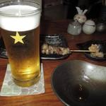 串焼たなかや - ビール(サッポロ)