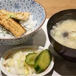 長助 まつえ - アナゴ丼とシジミの味噌汁