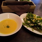 21812770 - ランチにはすべてスープ、サラダ付きって嬉しいね。