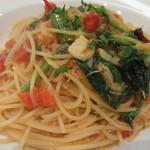 イル・クオーレ - <2013年7月>ズワイガニと空芯菜のフレッシュトマトパスタ