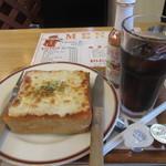 マンガッタンカフェ えき - ピザトーストセット