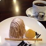 ドイツのコーヒー屋さん - 珈琲とセットで920円でした。