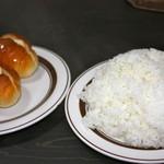 マルシゲ - 2回目の訪問 パン200円とライス大盛り250円