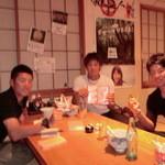 さつま料理 よ田屋 - 日ハム選手3人組!「ピントずれてごめんなさい!」