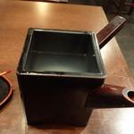 堂賀 - 蕎麦湯は、あっさり仕立て