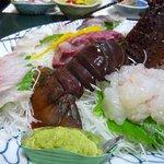 大漁丸 - 料理写真:夕食、伊勢エビ付き