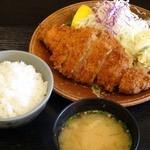 かっ彩 - 大ロースカツ定食コーヒー付 1200円