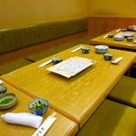 田島亭 - 1階の座敷がすべてテーブル席になりました
