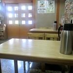 さぬきうどん桐山 - テーブル席